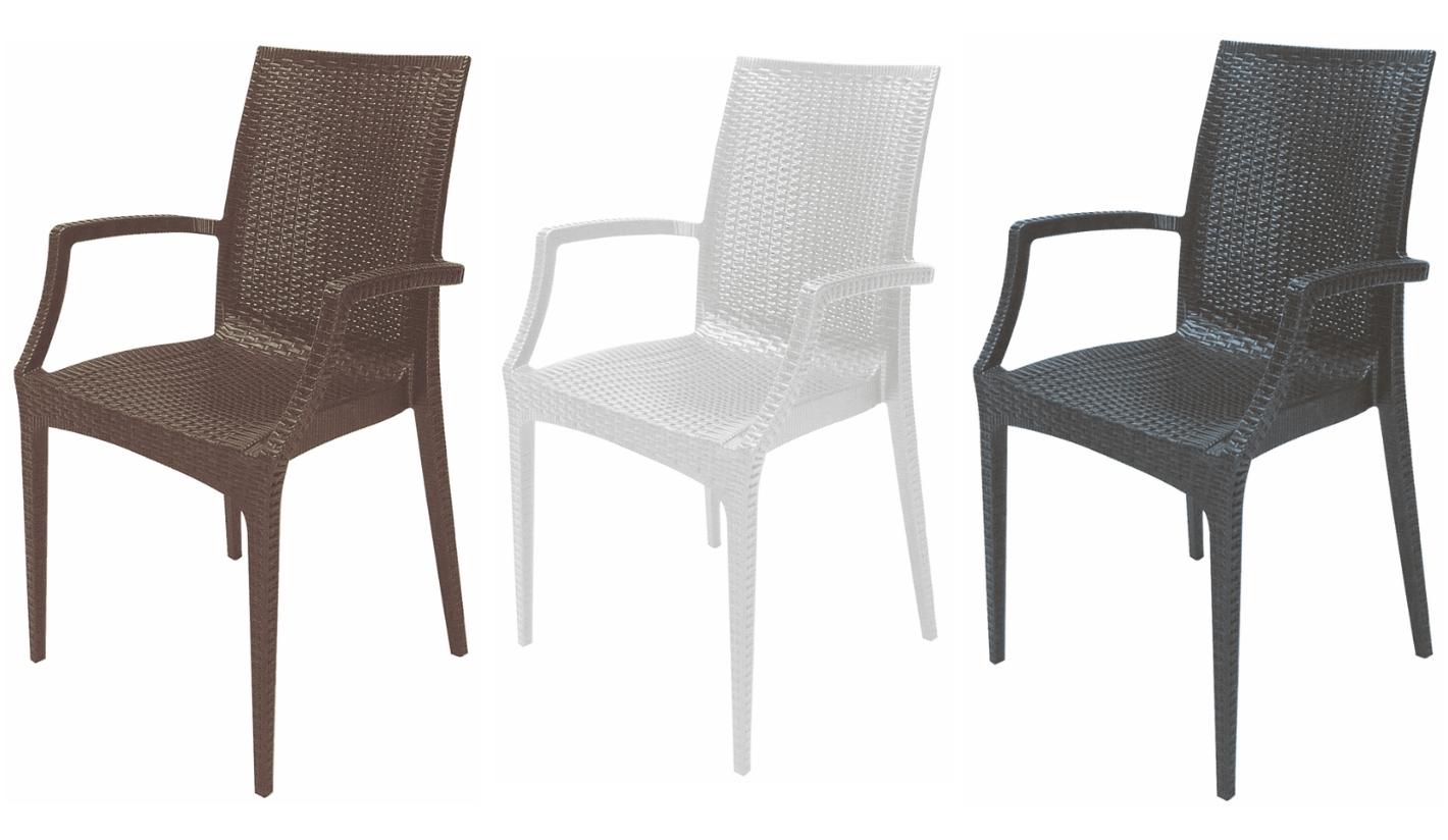 silla venecia de varios colores con brazos On sillas para exterior baratas