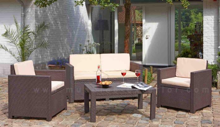 Set brando lounge brown for Salottini esterno