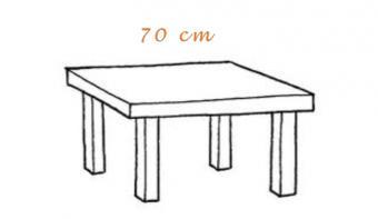 Mesas terraza 70cm