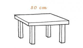 Mesas jardin terraza 80cm
