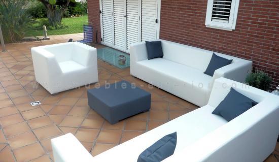 Sof s de jard n baratos venta directa de f brica muebles for Tela sofa exterior