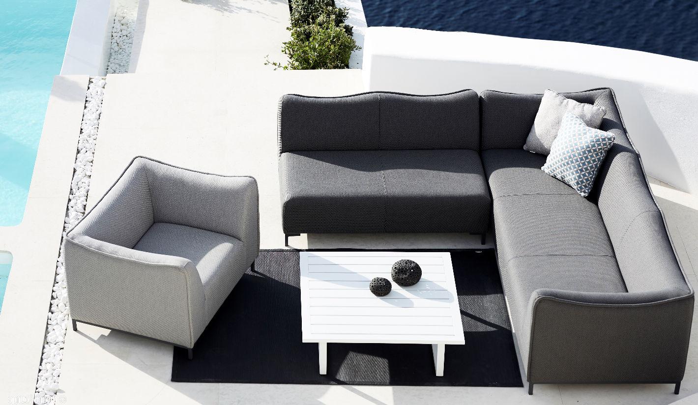 Sof s jard n tapizados tela sunbrella - Muebles exterior tela nautica ...