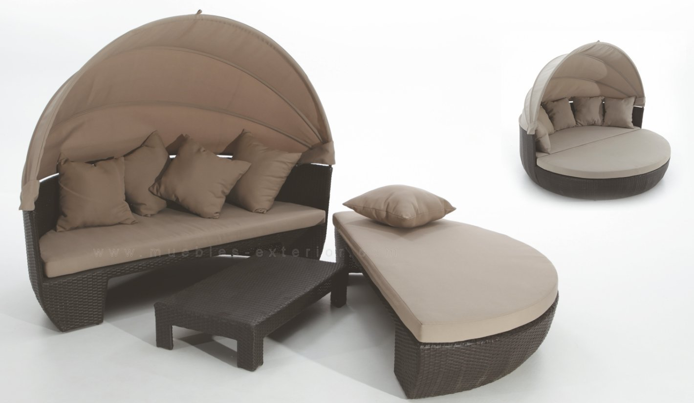 Cama de jard n doble for Camas de exterior