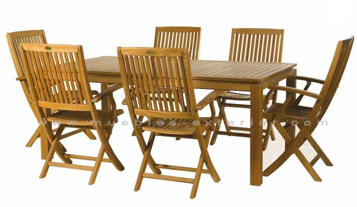 Muebles de jard n de teka for Rebajas muebles de jardin