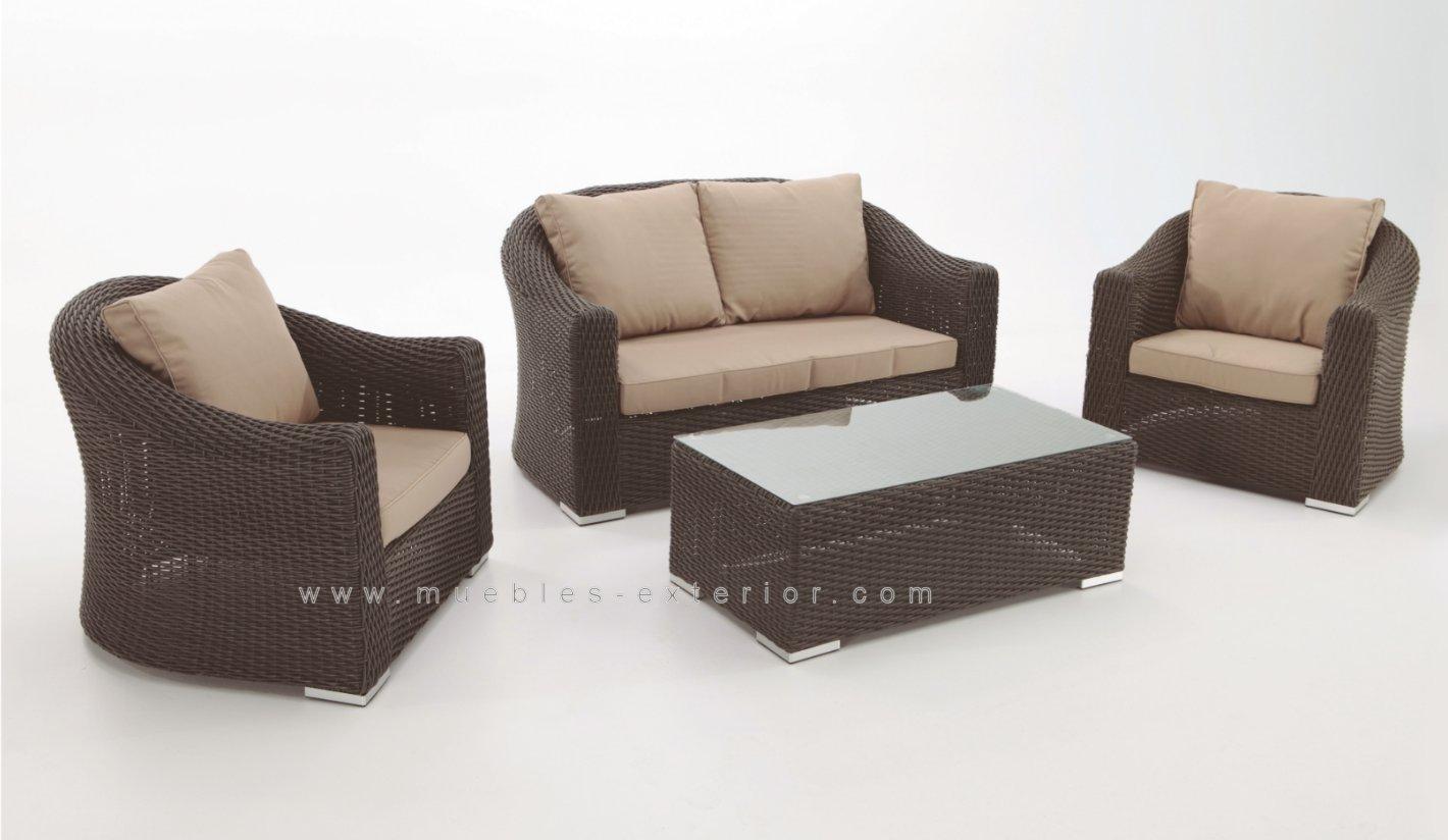 Muebles de jard n alacan for Sofas de ratan para jardin