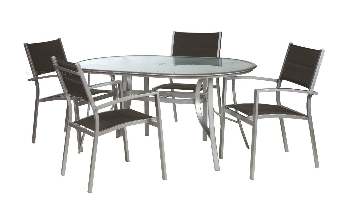 Mobiliario de terraza de aluminio for Mesas y sillas de jardin en el corte ingles