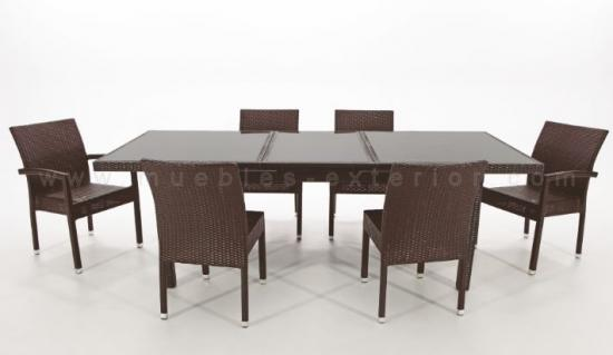 Mesas de jard n sillas de jard n muebles for Mesa comedor exterior