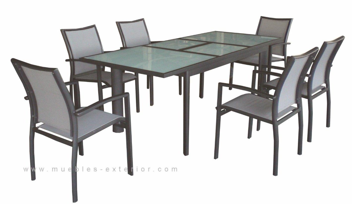 Muebles de terraza sillas y mesas de aluminio y textilene for Muebles para terraza y jardin
