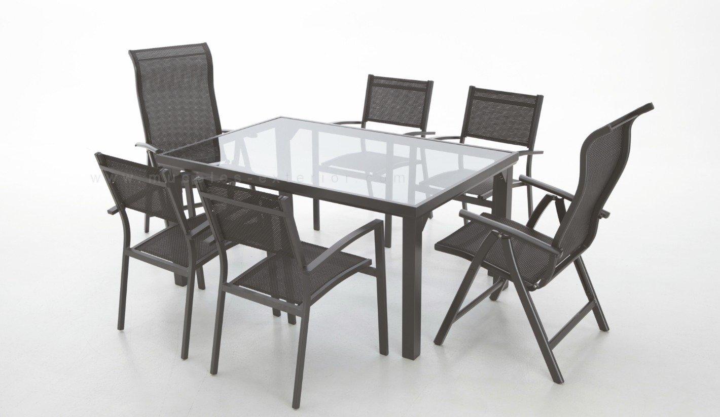 Muebles jard n aluminio con textilene for Muebles jardin aluminio