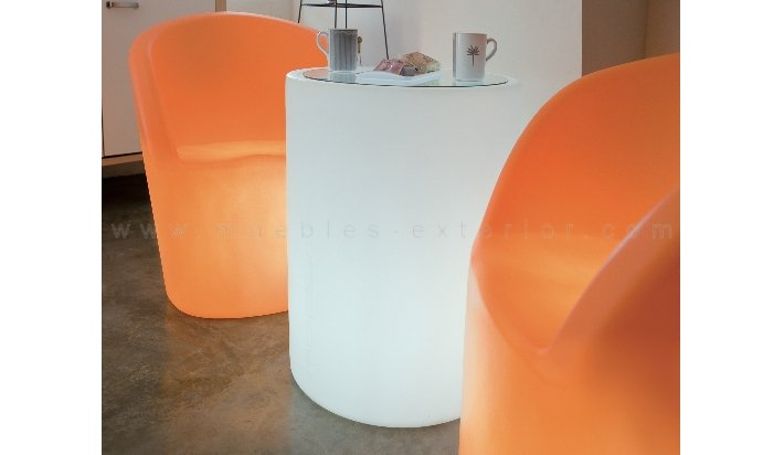 mesas con luz para jardn y exterior