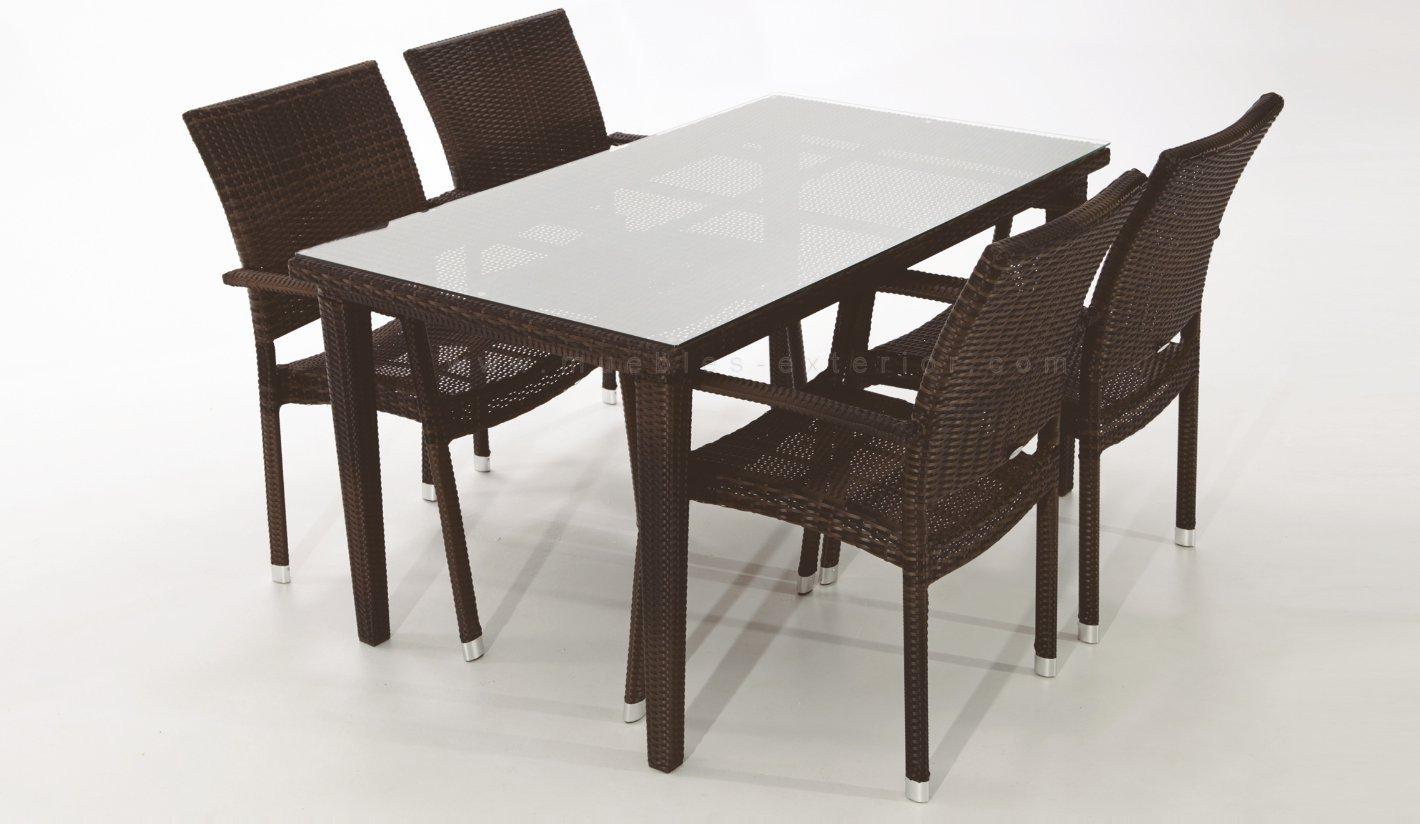 Conjunto sillas y mesas de jard n madrid for Mesas de jardin de resina