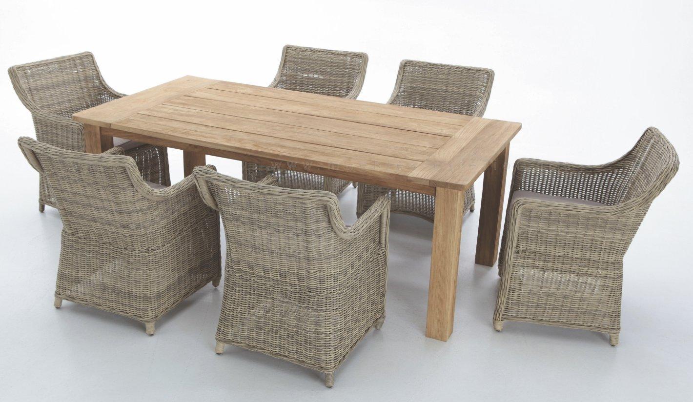 Conjunto comedor exterior rattan imitaci n natural for Conjunto de mesa de madera y silla de jardin barato