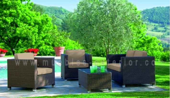 Conjunto de jard n sof s asturias for Conjunto de jardin baratos
