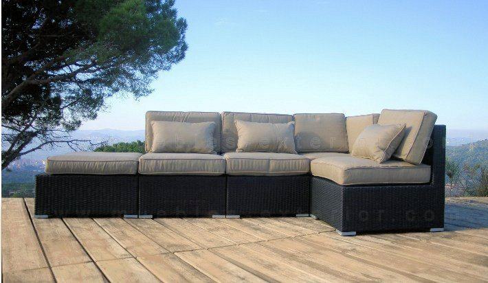 Muebles jard n lleida sof s modulares for Sofa exterior a medida