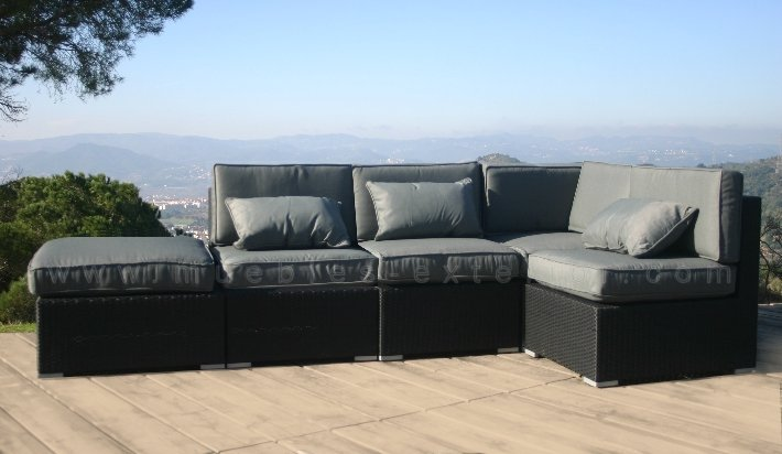 Sof s de jard n y muebles de exterior rattan negro for Jardin y exterior muebles terraza