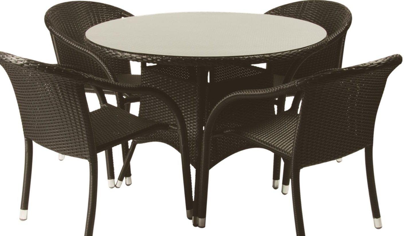 Muebles de terraza de rattan for Mesas y sillas para terraza