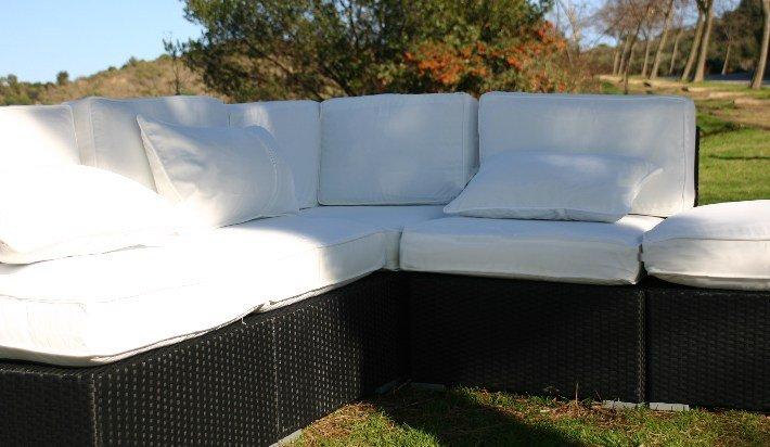 Mobiliario de jard n muebles sof s vizcaya for Mobiliario jardin resina