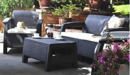 Sof s de jard n baratos venta directa de f brica muebles for Set de resina de jardin trenzado barato