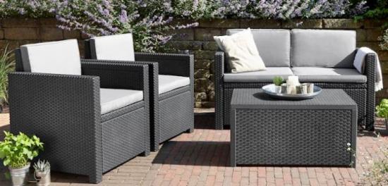 Sof s de jard n y exterior baratos s lo en muebles for Set muebles jardin baratos