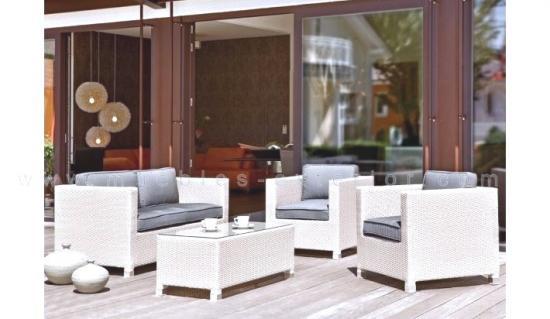 Conjuntos de muebles de jard n muebles - Cojines exterior carrefour ...