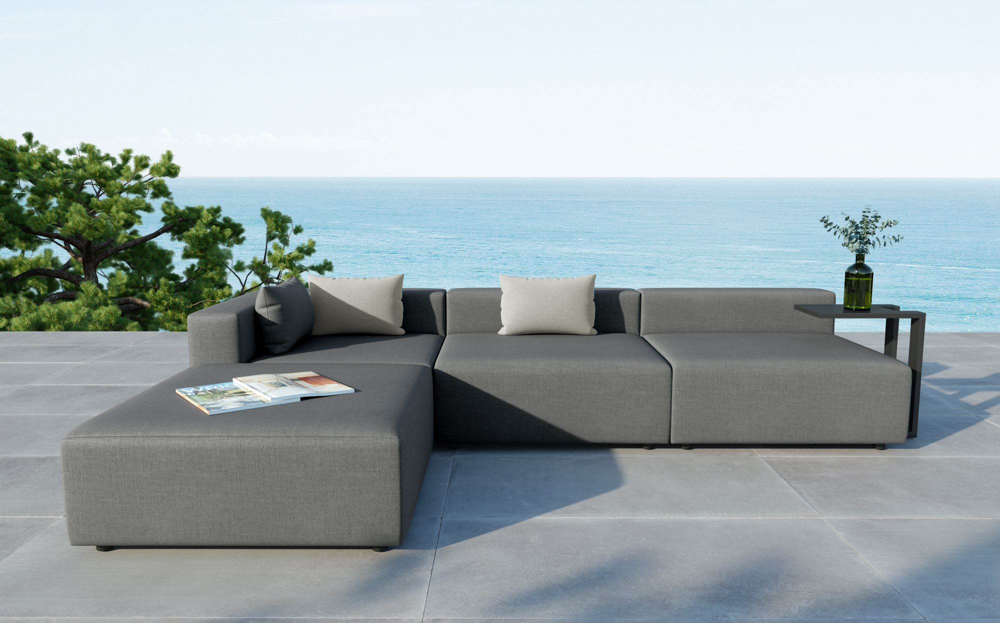 Colecci n metric sof s de jard n grandes extra grandes for Sofa exterior resina