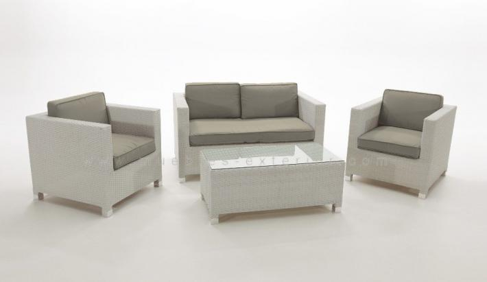 Sofas de terraza chill out estepa for Muebles jardin rattan sintetico blanco