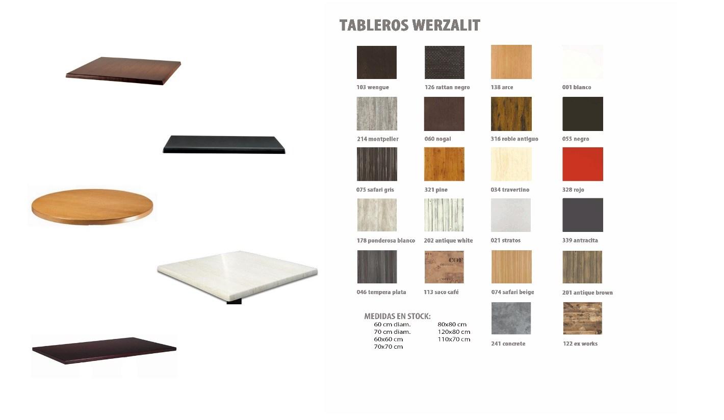 Tableros para mesas werzalit para exterior y hosteler a - Tablero para exterior ...