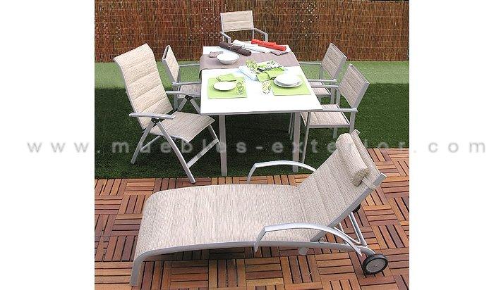 Sillas y mesas de jard n colecci n torrevieja for Precio sillas reclinables
