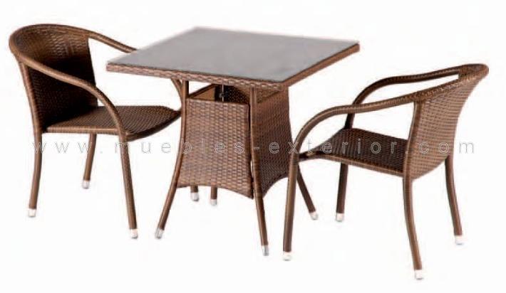 Muebles de terraza de rattan - Mesas de terraza baratas ...