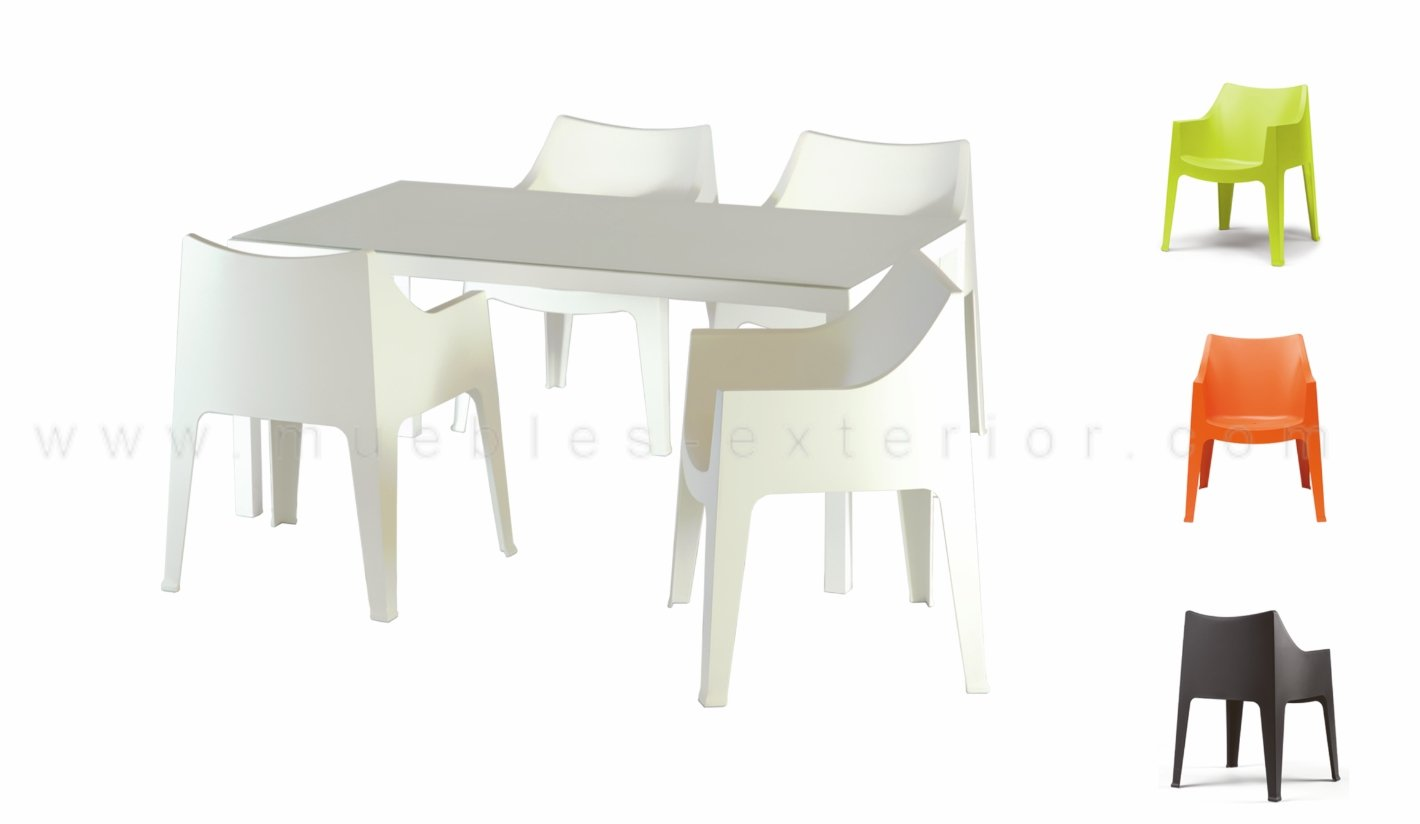 Sillas de resina for Muebles plastico jardin