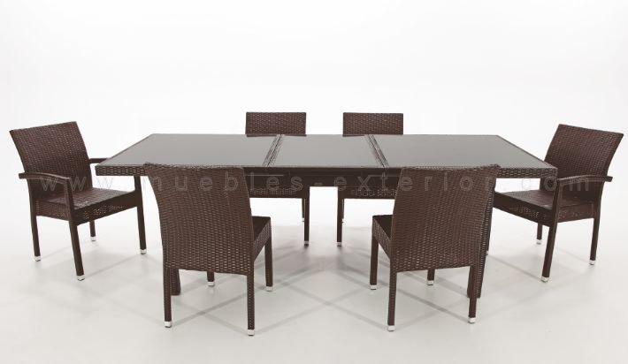 Mesas de exterior y sillas asturias - Muebles terraza rattan ...