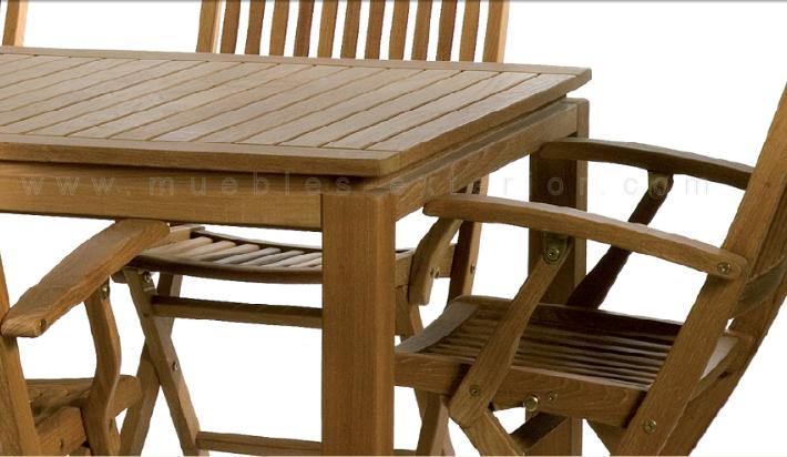 Muebles de jard n de teka for Mobiliario de jardin de madera