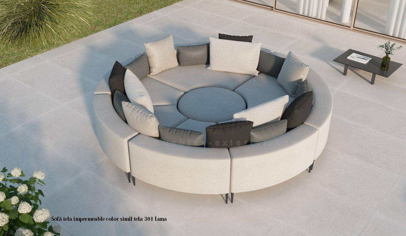 Sof s de jard n grandes extra grandes y medianos varias medidas de muebles con telas impermeables - Muebles exterior tela nautica ...