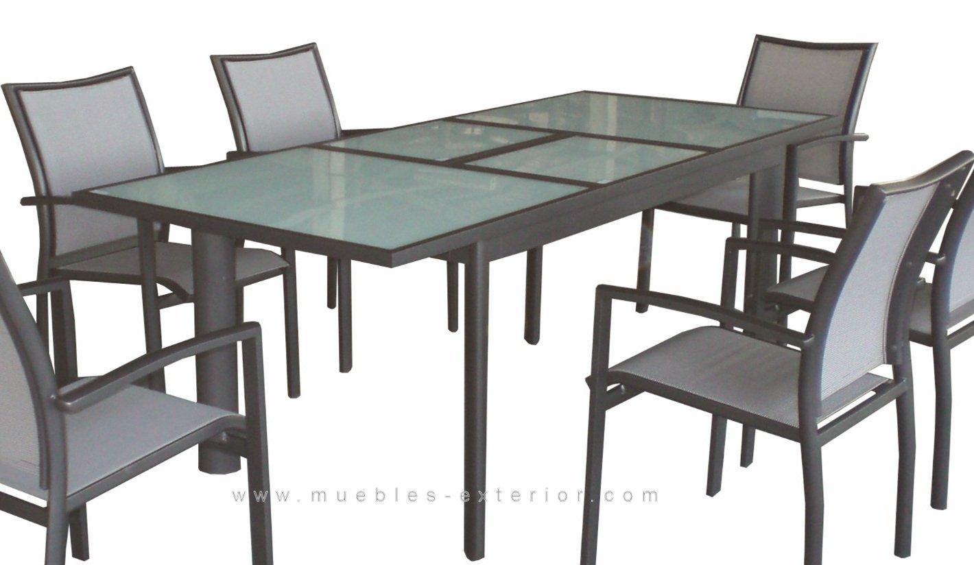 Muebles de terraza sillas y mesas de aluminio y textilene - Sillas de plastico baratas carrefour ...