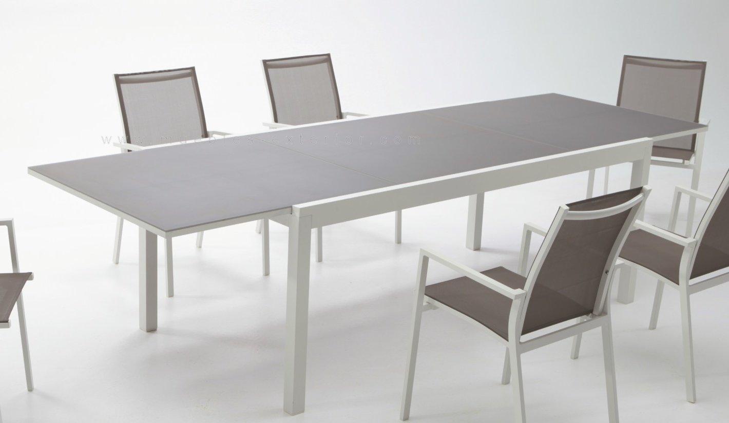 Conjunto muebles jard n terrassa for Mesa de jardin extensible