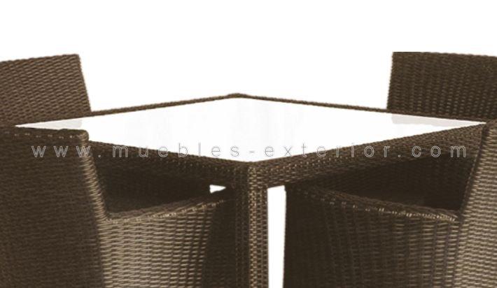 Muebles de terraza sillas y mesas colecci n vigo for Conjuntos de rattan para terrazas