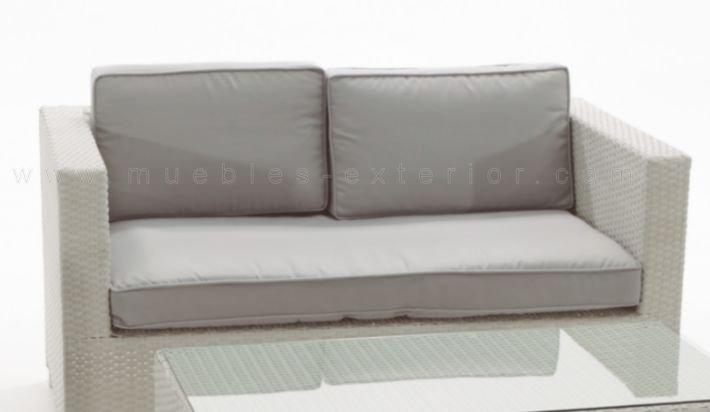 Sof s de jard n seville for Sofa exterior aluminio blanco