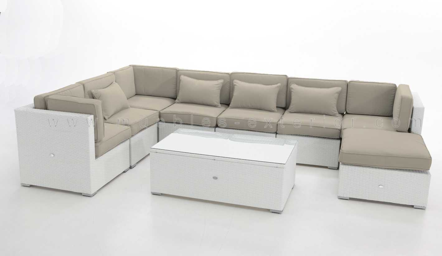 Sofas de terraza chill out estepa for Sofa blanco barato