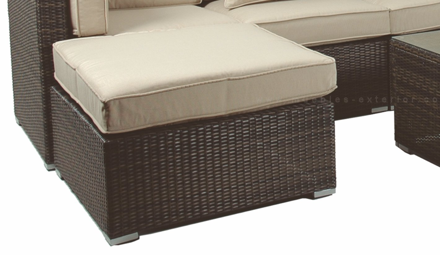 Muebles de jard n colecci n madri for Sofa exterior rattan sintetico