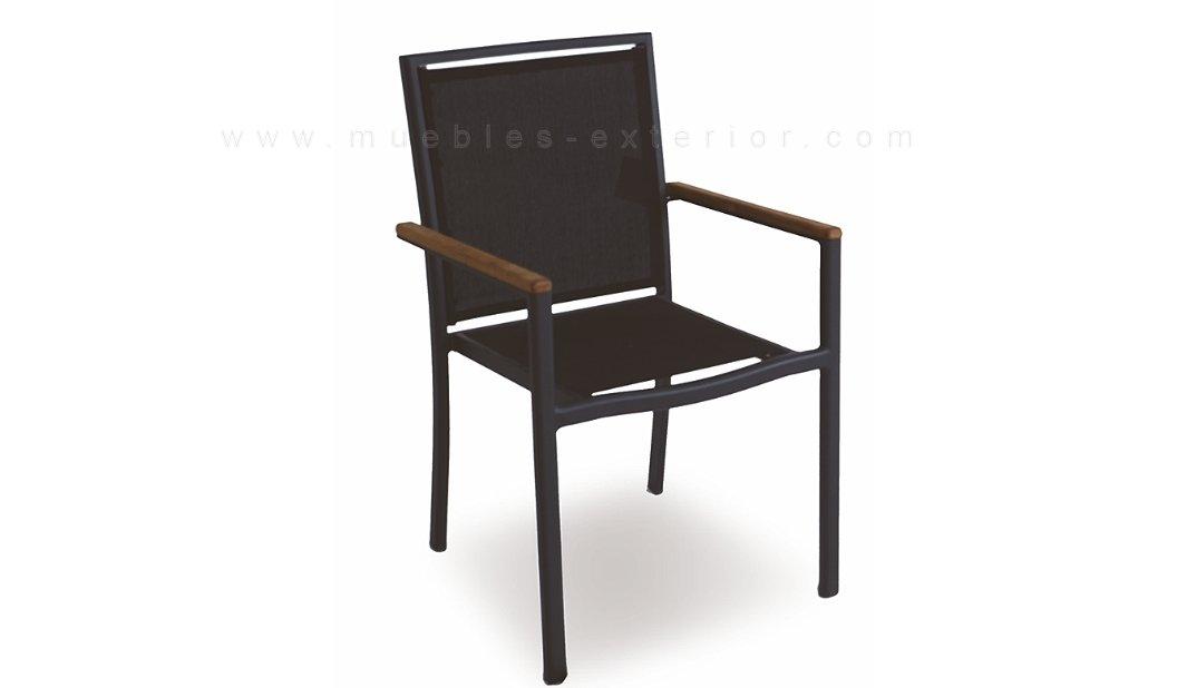Sillas de jard n y mesa colecci n lourdes for Muebles de exterior aluminio