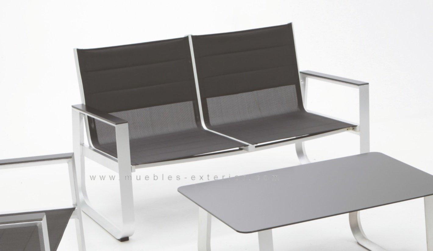Muebles de jard n aluminio y textilene - Muebles exterior barcelona ...