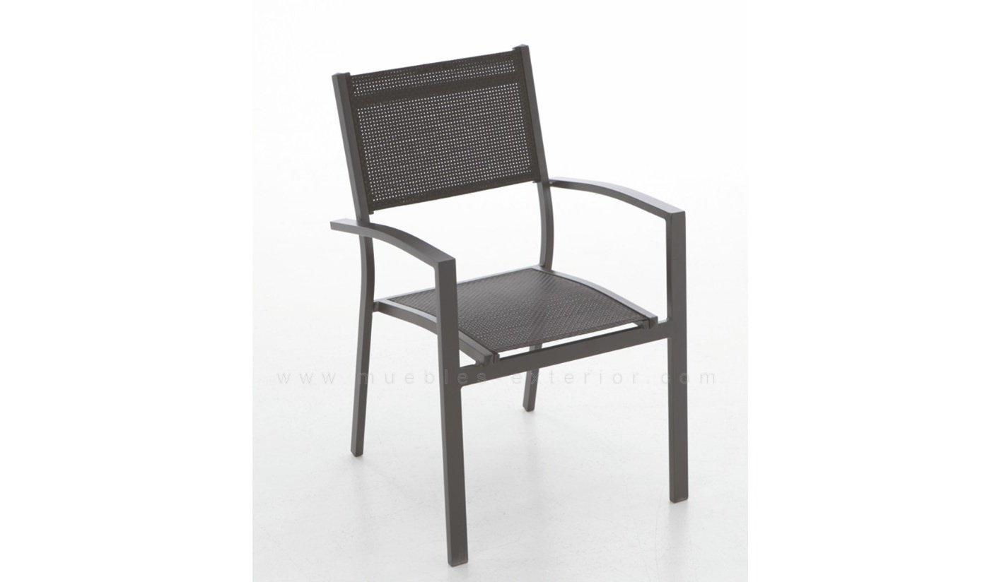 Muebles jard n aluminio con textilene for Muebles de exterior montevideo