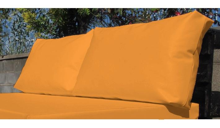 pack 2 cojines para palet respaldo impermeable 60 ancho x 45 alto