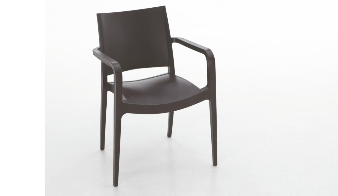 silla exterior barata polipropileno elda con brazos