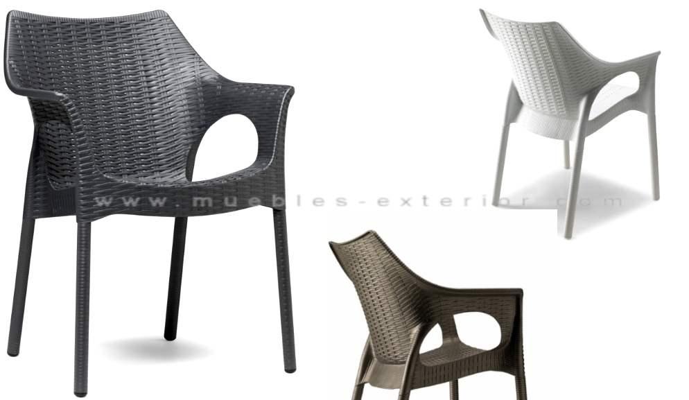silla de terraza polipropileno tortosa patas trenzadas