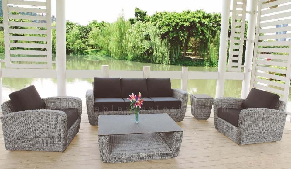 Mesa de centro para jard n y terraza benahavis for Muebles terrazas ratan