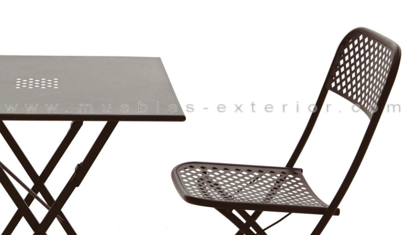 Set Muebles De Terraza Benidorm Mesa Y 2 Sillas