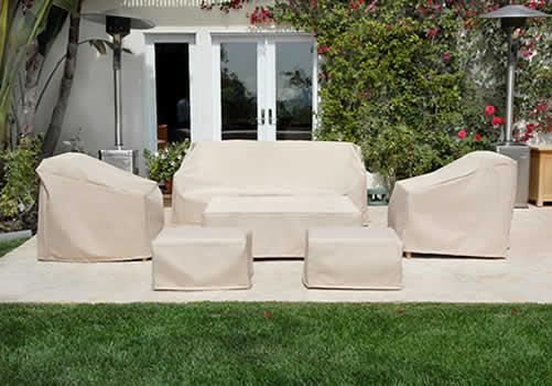 Funda a medida para sof de jard n for Fundas muebles terraza