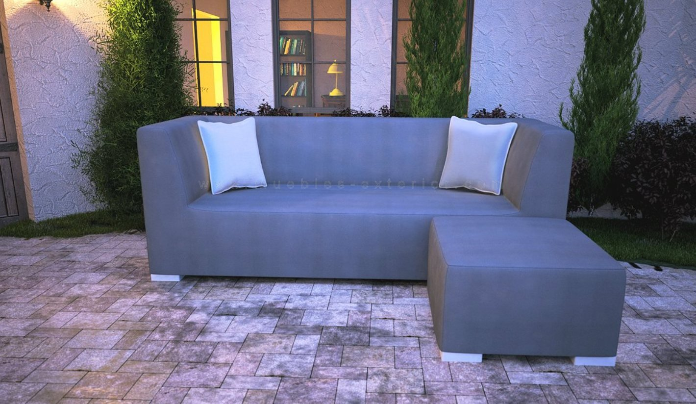 Sofa jard n impermeable 3 plazas 238 cm for Tela sofa exterior
