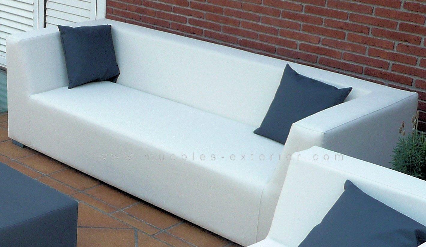 Sofa jard n impermeable 3 plazas 238 cm for Sofa exterior 2 plazas